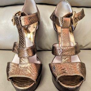 Michael Kors Metalic Gold Stiletto Sandals (size 8